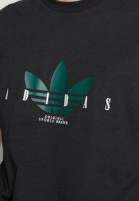 adidas Originals - TREFOIL SCRIPT - Print T-shirt - black - 4