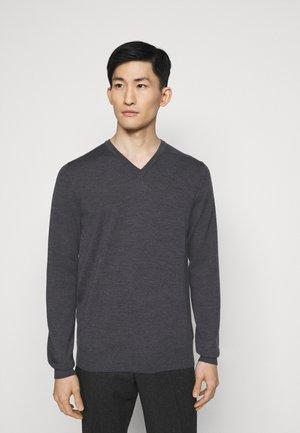 LYMANN - Stickad tröja - dark grey melange