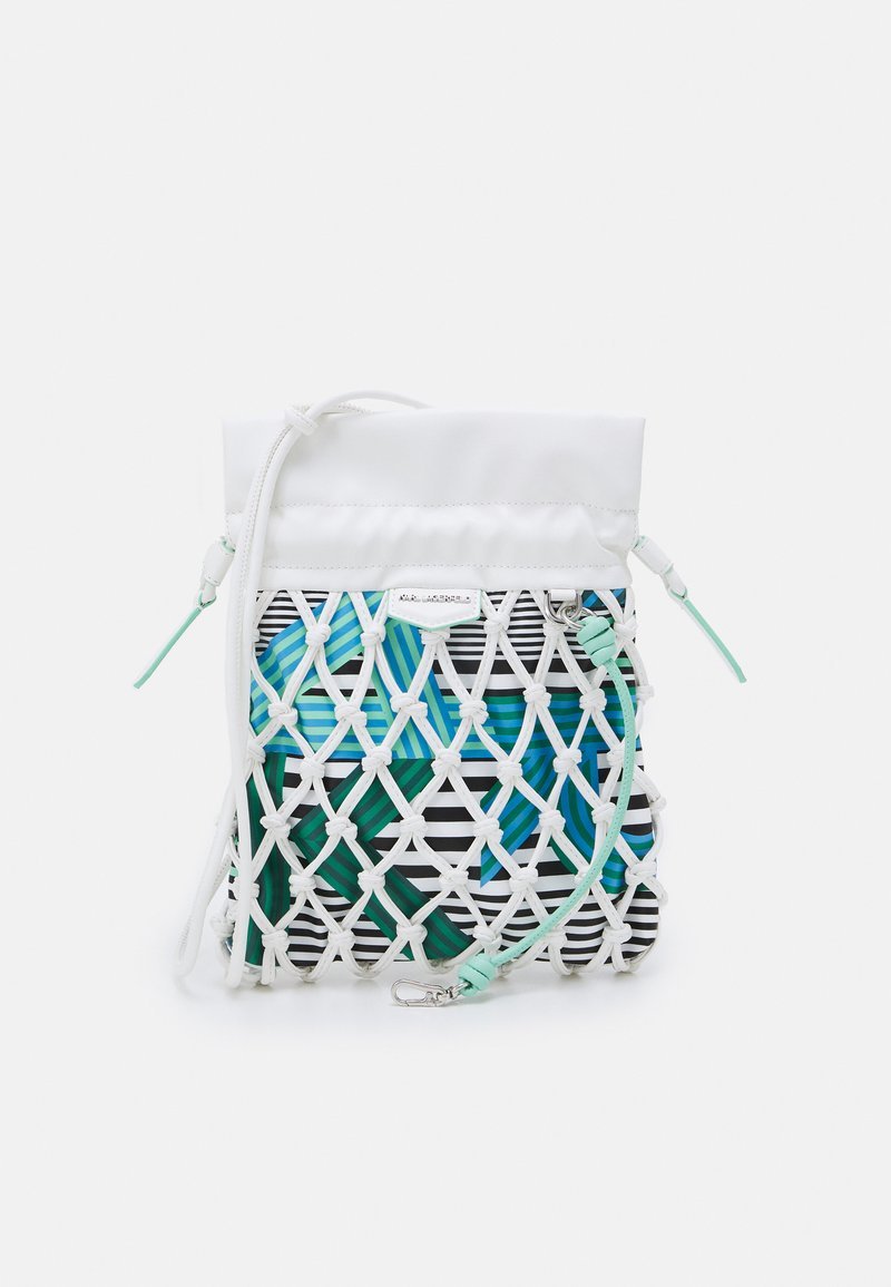 KARL LAGERFELD - KNOTS MINI HOBO - Handbag - off white