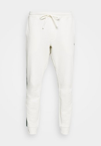LOOPBACK TERRY PANT ATHLETIC - Tracksuit bottoms - chic cream/college green