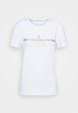 MONOGRAM TEE - Print T-shirt - bright white