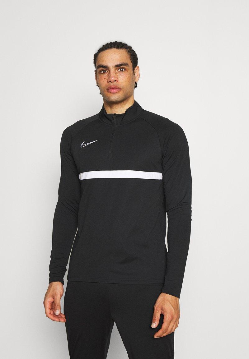 Nike Performance - ACADEMY DRIL - Sportshirt - black/white