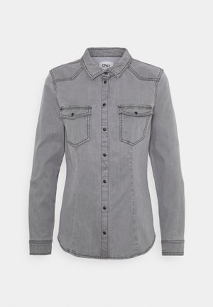 ONLROCKIT LIFE - Button-down blouse - grey denim