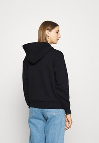 Converse - WOMENS FOUNDATION FULL ZIP HOODIE - Zip-up sweatshirt - black - 2
