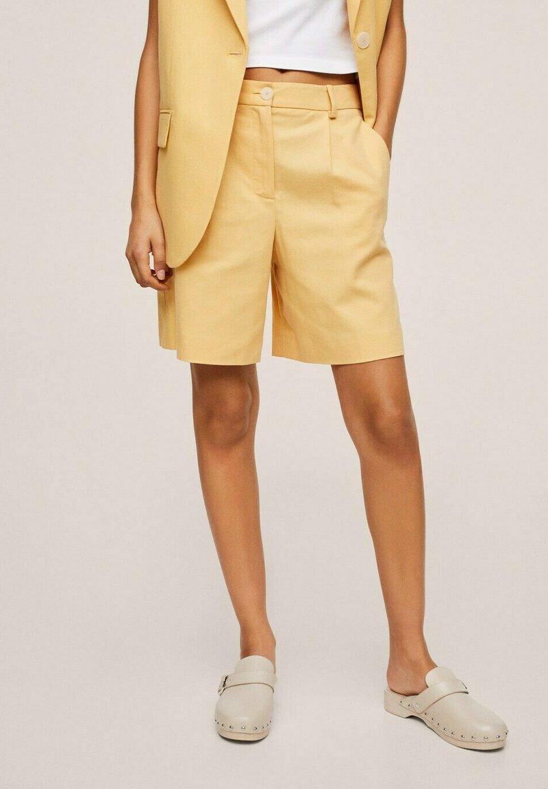 Mango - Shorts - pastel yellow