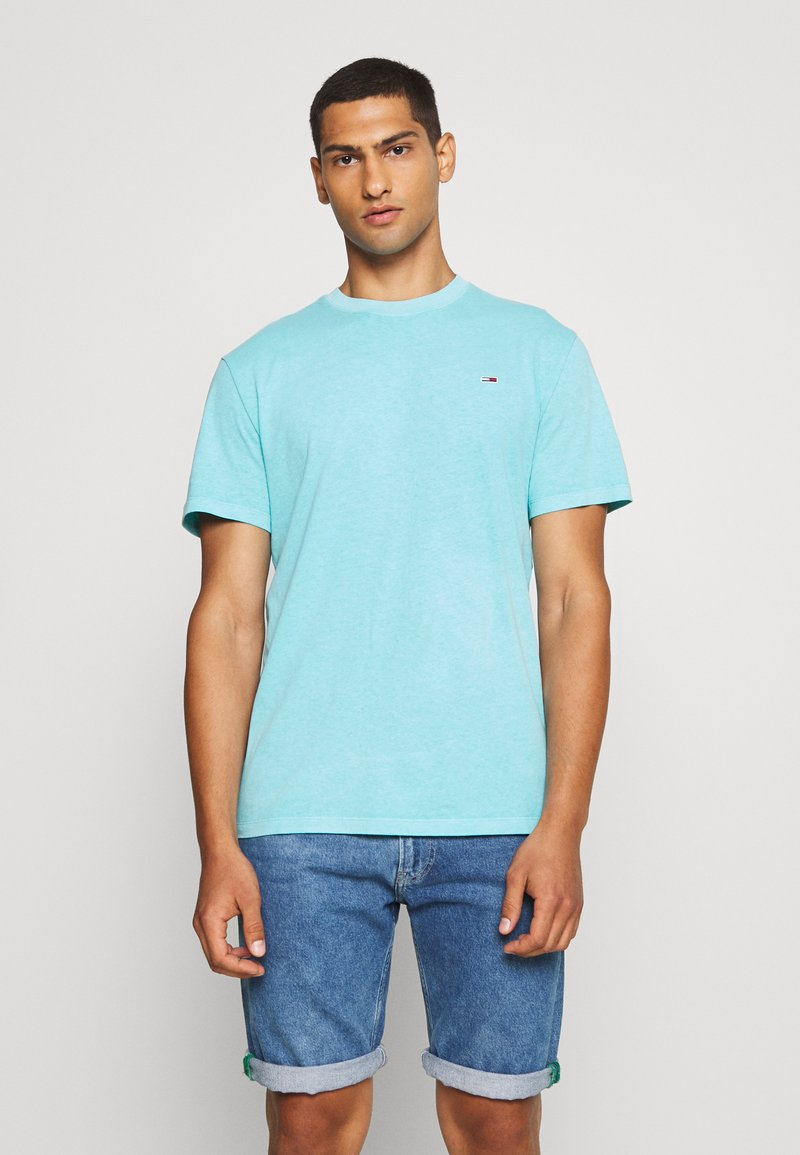 Tommy Jeans - SUNFADED WASH TEE - T-shirt basic - blue