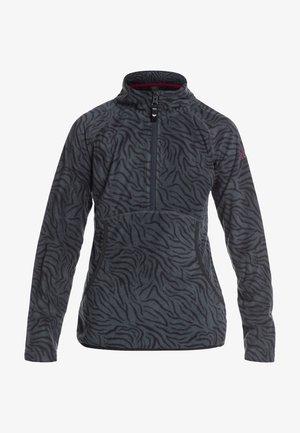 CASCADE  - Fleece jumper - true black zebra print