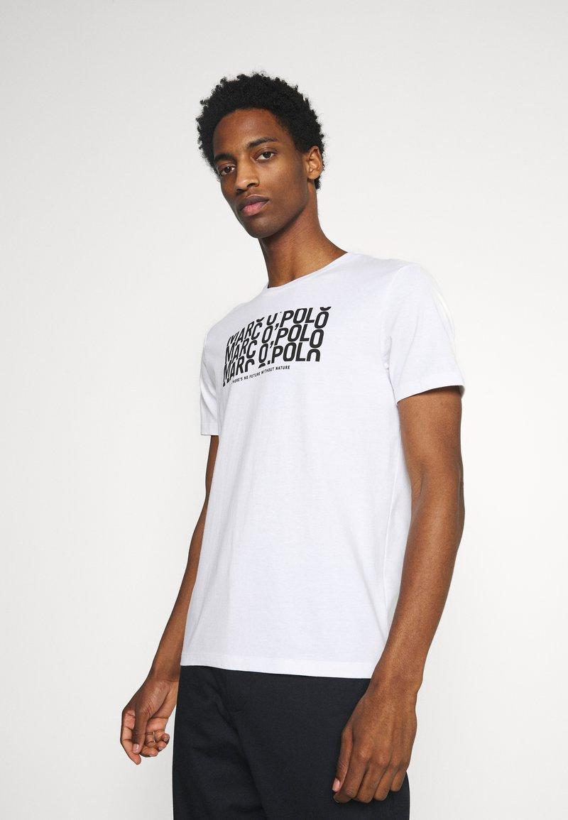 Marc O'Polo - SHORT SLEEVE PRINT - Print T-shirt - white