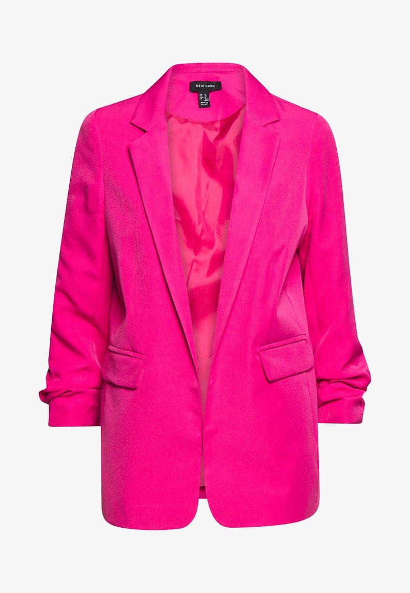 New Look - RUCHED BOYFRIEND - Blazer - bright pink