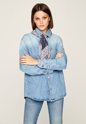 LUCY  - Button-down blouse - blue denim