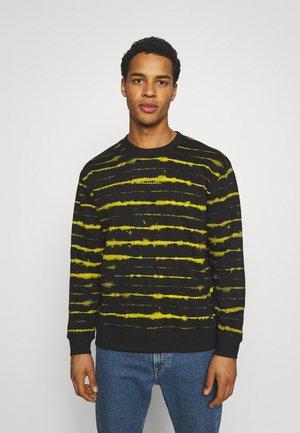 STRIPE TIE DYE CREW - Sweatshirt - black