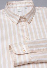 Eterna - Button-down blouse - beige/weiß - 4