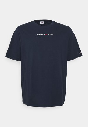 LINEAR LOGO TEE - Jednoduché triko - twilight navy