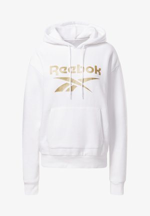 REEBOK IDENTITY LOGO FLEECE HOODIE - Sweatshirt - white
