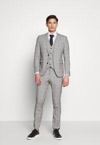 Esprit Collection - PRINCE CHECK - Vesta do obleku - light grey - 1