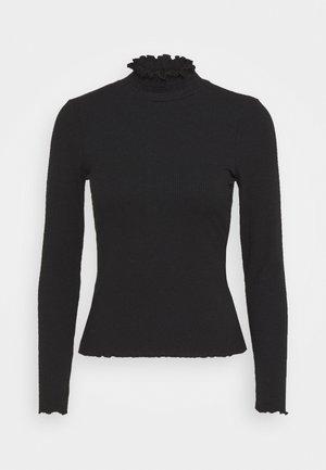VMGLADYS HIGHNECK - Long sleeved top - black