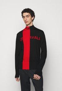 Just Cavalli - Svetr - black/grenadine red - 0