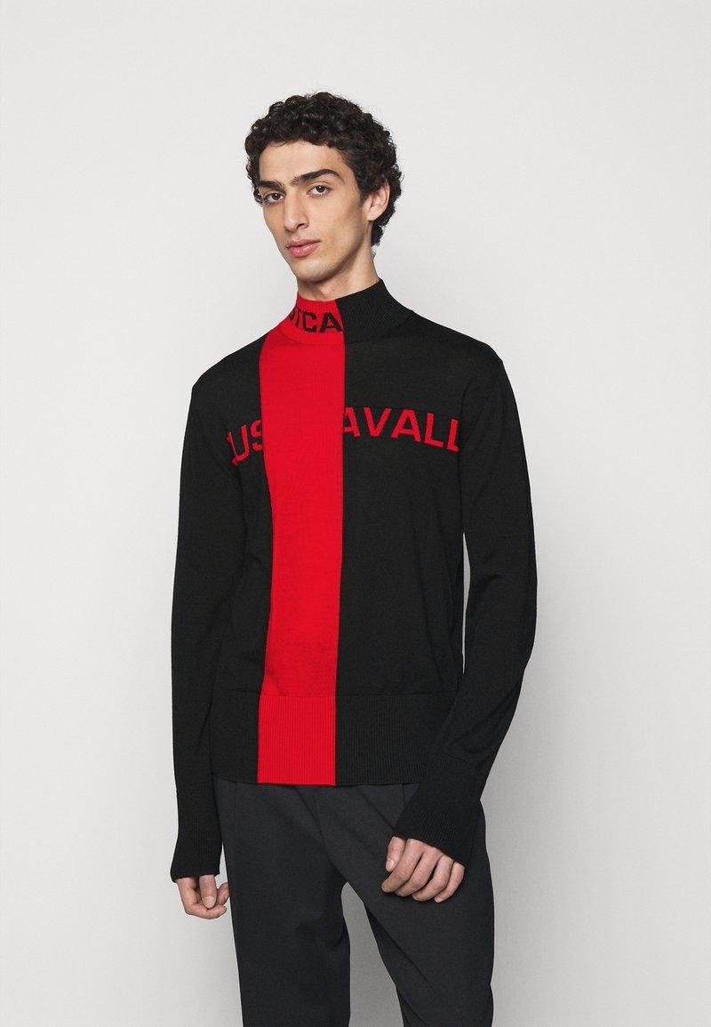 Just Cavalli - Svetr - black/grenadine red