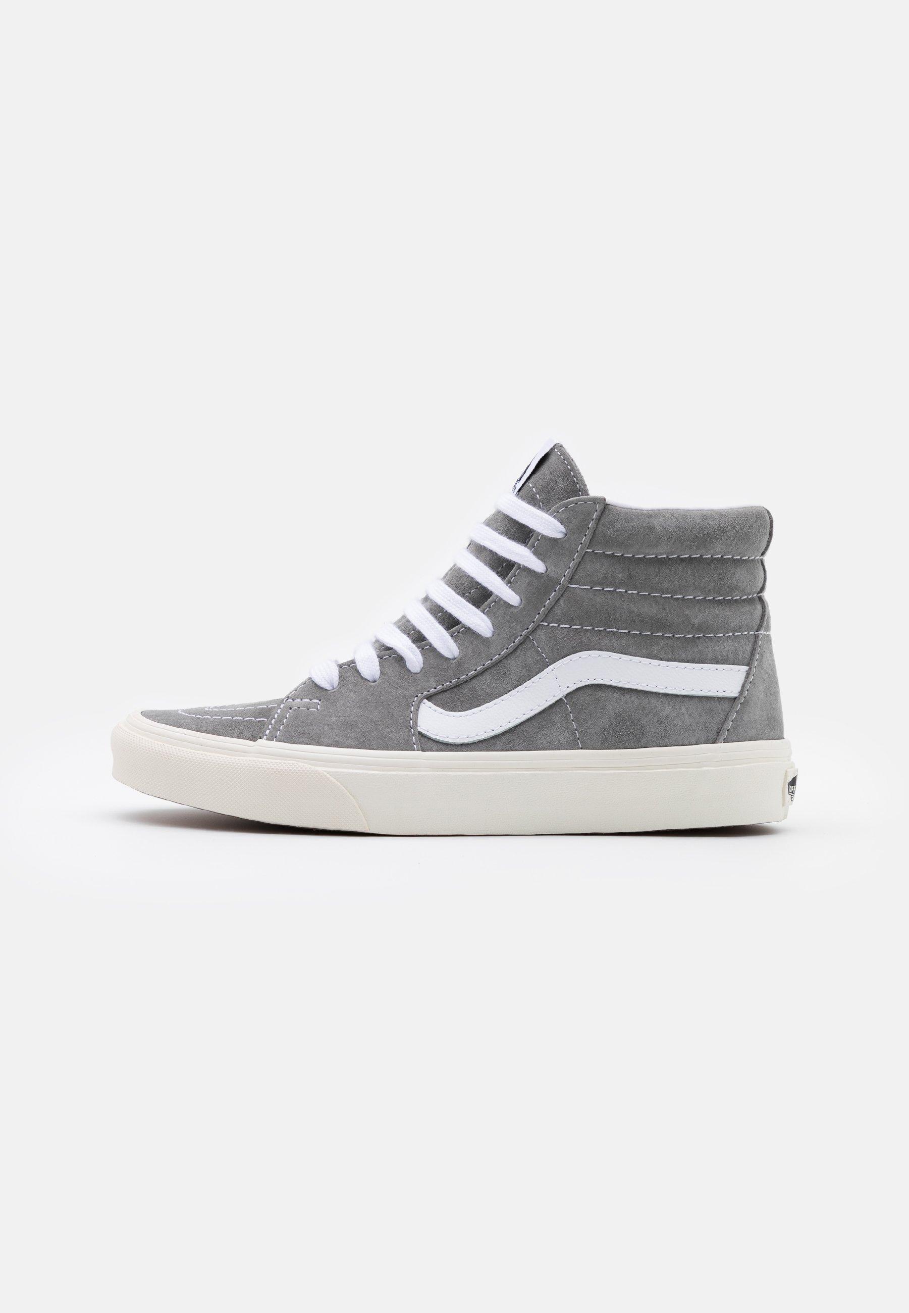 Vans SK8-HI - Chaussures de skate - drizzle/snow white/gris clair ...