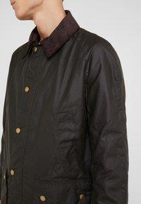 Barbour - ASHBY WAX JACKET - Summer jacket - olive - 4