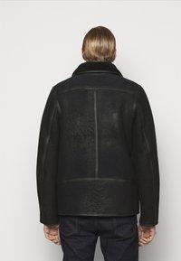 PS Paul Smith - JACKET - Leather jacket - black - 3