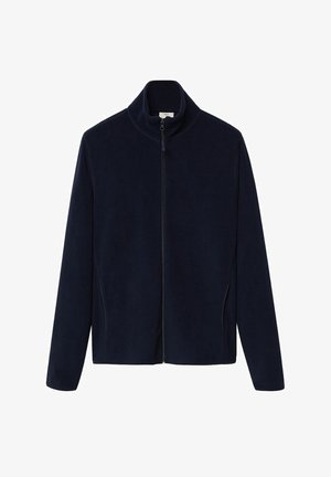 FLUFFY - Fleece jacket - dunkles marineblau