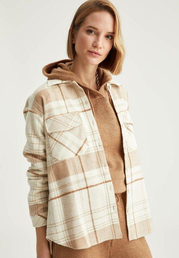 DeFacto Koszula - brown/wielbłądzi YWWI