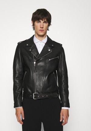 LOWIS - Usnjena jakna - black