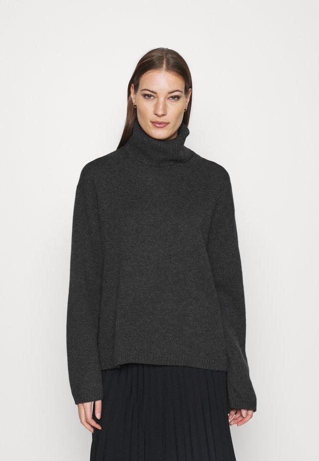 TURTLENECK JUMPER - Sweter - grey dark