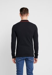 Tommy Jeans - STRETCH LONGSLEEVE  - Piké - black