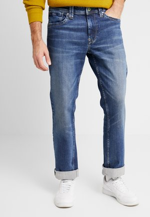 KINGSTON ZIP - Straight leg jeans - wiser wash med used