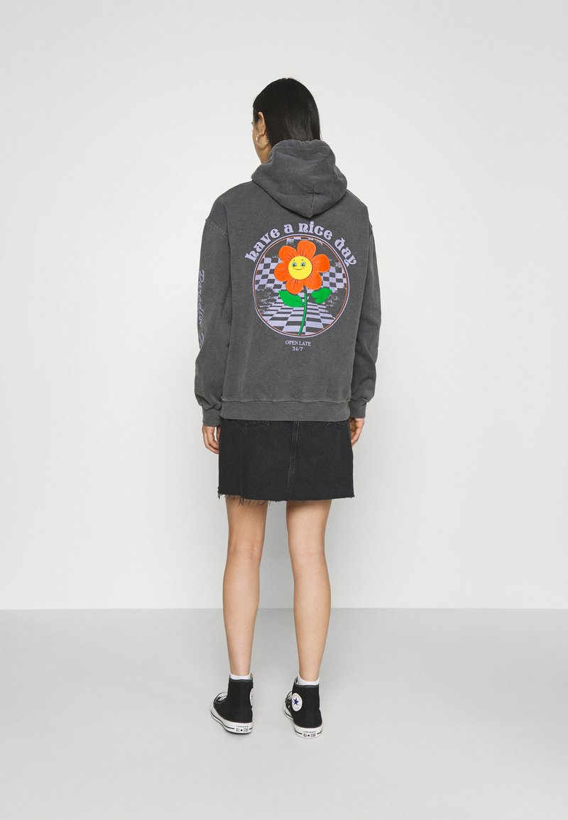 BDG Urban Outfitters - HAVE A NICE DAY HOODIE - Sweatshirt - washed black