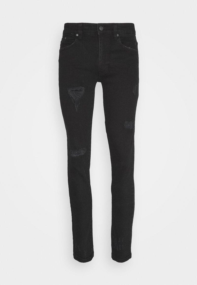 Denim Project MR RED - Jeans Skinny Fit - black/black denim mIyFRQ