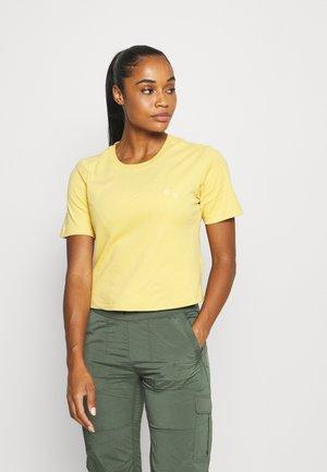 WOMEN - Jednoduché triko - straw yellow