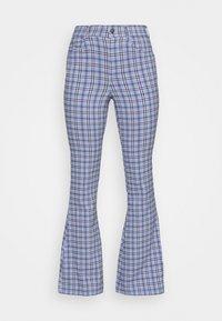PLAID - Trousers - blue