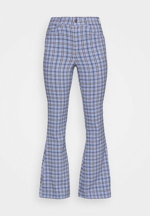 PLAID - Trousers - blue