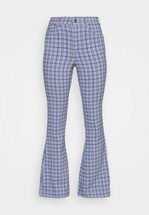 PLAID - Kalhoty - blue