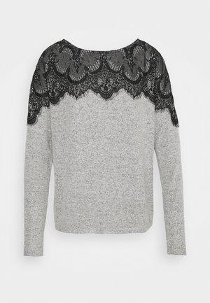 VMBLIMA BOATNECK - Trui - light grey melange/black