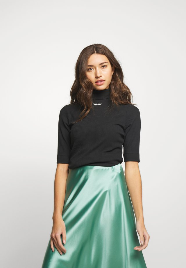 CAROLINE - T-Shirt print - black