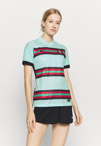 Nike Performance - PORTUGAL STAD - Print T-shirt - teal tint/black - 0
