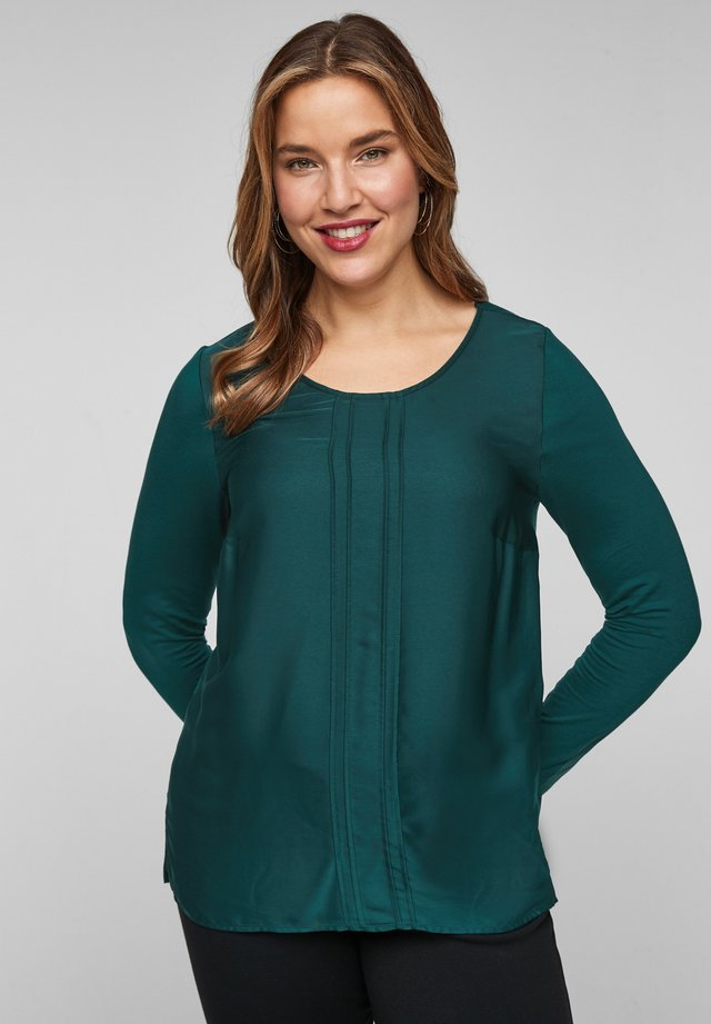 Long sleeved top - dark green