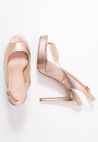 Miss Selfridge - PLATFORM COURT - Peeptoe heels - rose gold - 3