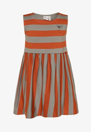 Jersey dress - bombay brown/seagrass