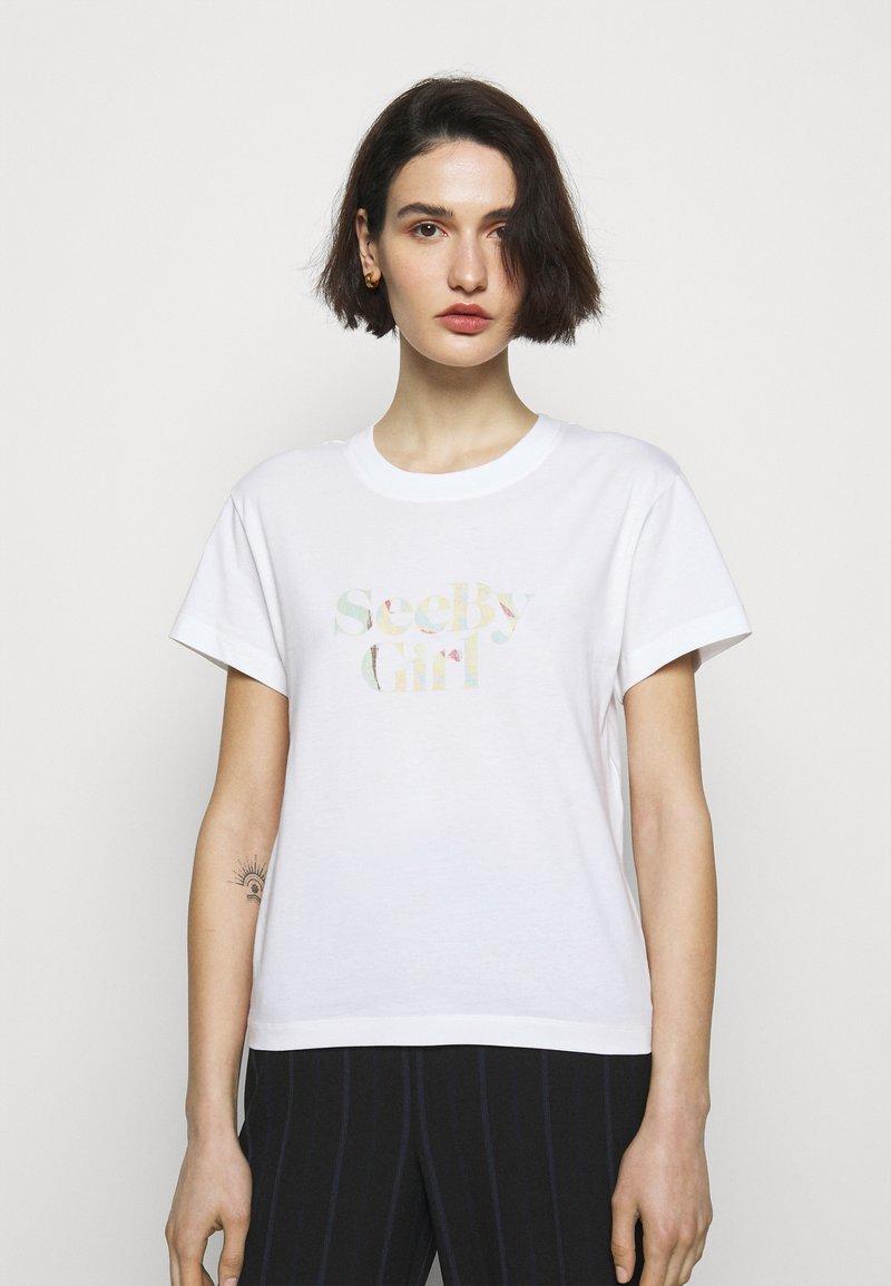 See by Chloé - Print T-shirt - white powder