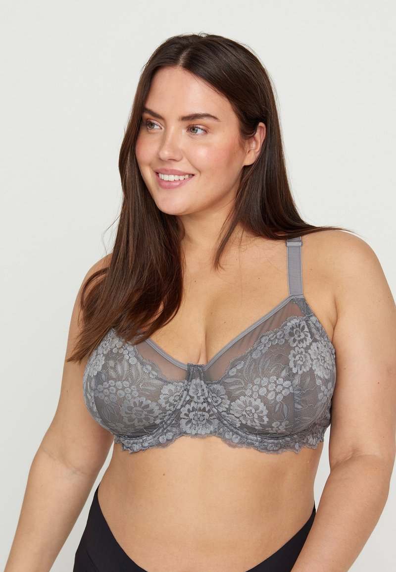 Devoted By Zizzi - FREJA - Soutien-gorge à armatures - smoked pearl