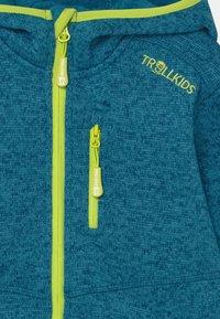TrollKids - JONDALEN UNISEX - Fleece jacket - petrol/lime - 2