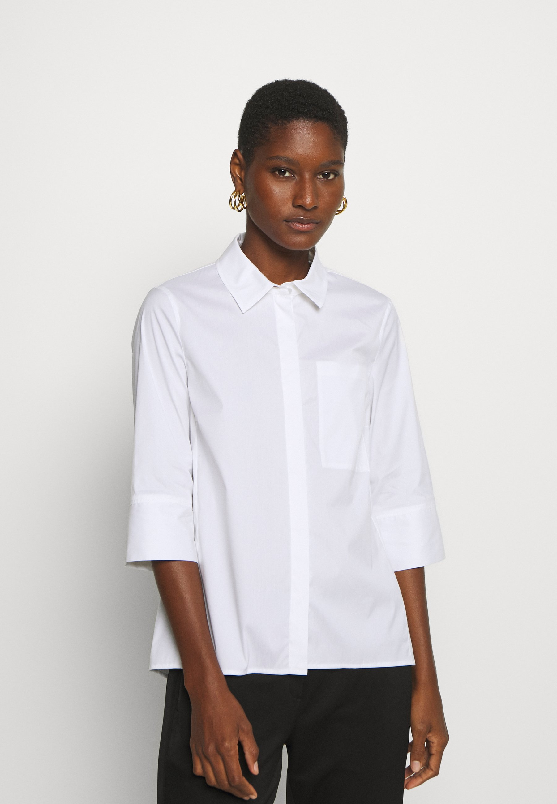 Factory Outlet Women's Clothing Marc O'Polo PURE BLOUSE CHEST POCKET Button-down blouse white zL6UZJyG4