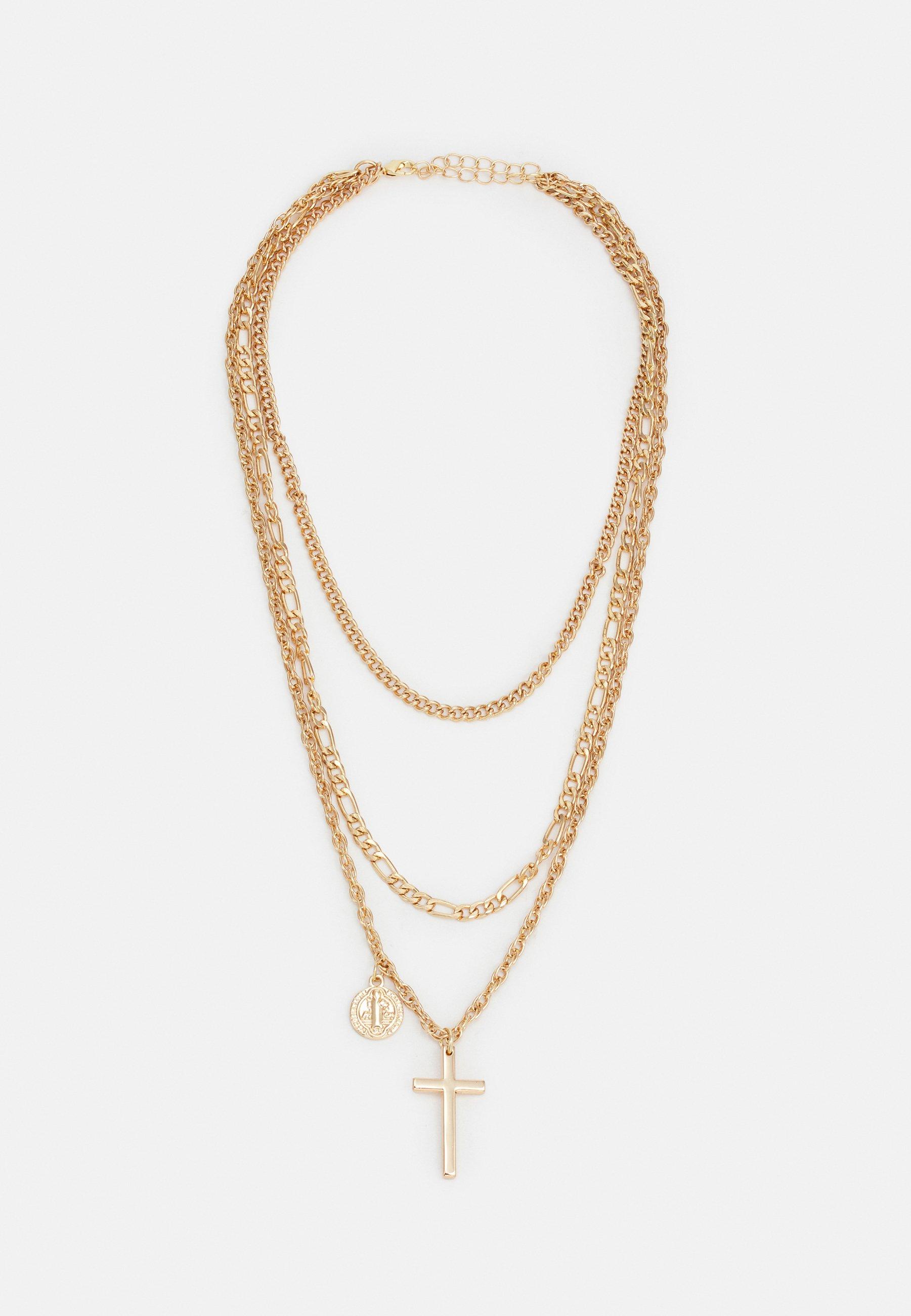 Damen MINI COIN CROSS NECKLACE UNISEX - Halskette
