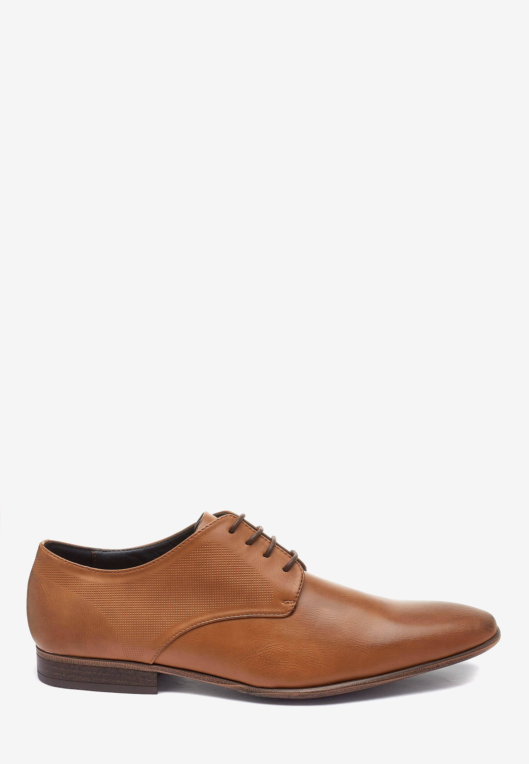 Next TAN TEXTURED DERBY SHOE - Eleganta snörskor - brown/brun - Herrskor aQSSq