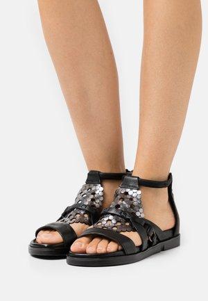 KETTA - Sandals - nero/inox